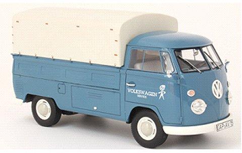 フォルクスワーゲン T1 PP 「VWサービス」 幌付トラック ブルー/ホワイト (1/18 プレミアムクラシックスPCS30070)