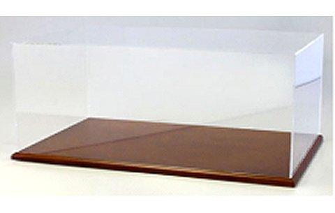 アクリルケース&木製ディスプレイベースセット (大) ブラウン (京商KS02070)