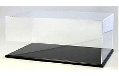 アクリルケース&木製ディスプレイベースセット (大) ブラック (京商KS02071)