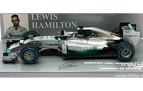 メルセデス AMG ペトロナス F1チーム W05 L.ハミルトン 日本GP 2014 ウイナー (1/43 ミニチャンプス410140744)