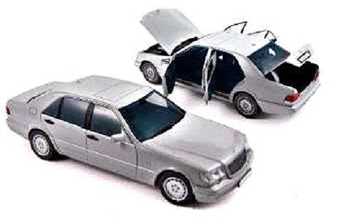 メルセデスベンツ S600 1997 パールライトMグレー (1/18 ノレブ183563)