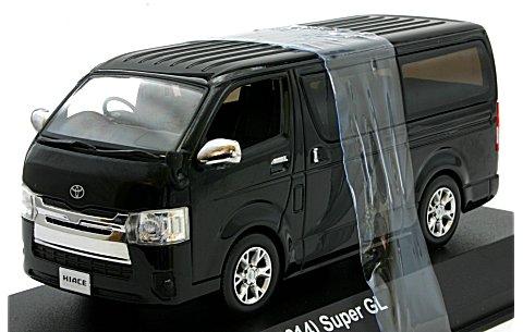 トヨタ ハイエース スーパーGL 2014 ブラックM (1/43 京商KS03861BK)