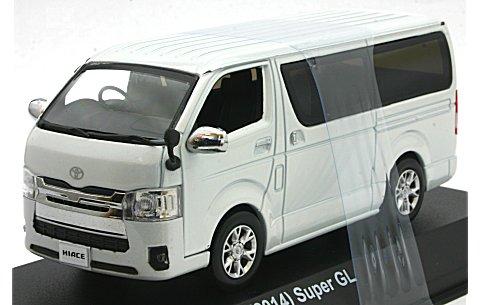 トヨタ ハイエース スーパーGL 2014 パールホワイト (1/43 京商KS03861PW)