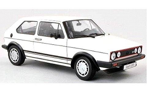 フォルクスワーゲン ゴルフ 1 GTI ホワイト (1/18 ウエリーWE18039W)