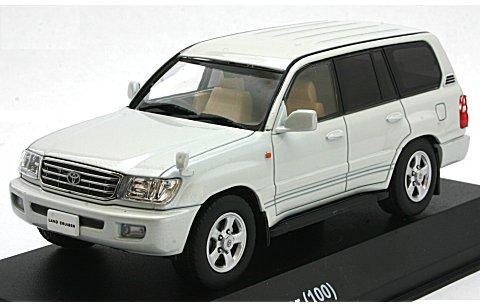 トヨタ ランドクルーザー 100 パールホワイト (1/43 京商KS03640W)