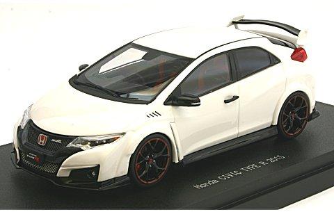 ホンダ シビック タイプR 2015 (Japanese License Plate) チャンピオンシップホワイト (1/43 エブロ45366)