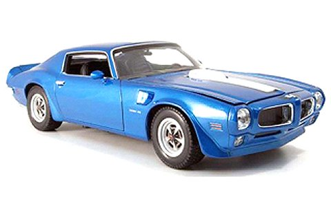 1972 ポンティアック ファイヤーバード トランザム ブルー (1/18 ウエリーWE12566BL)