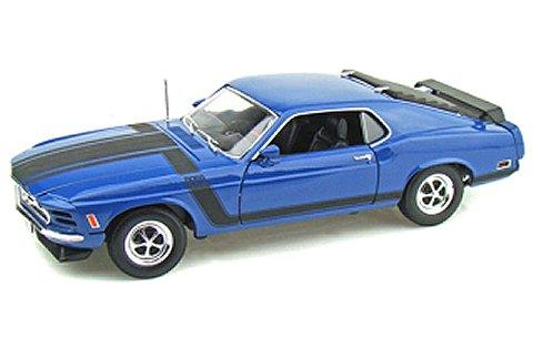 1970 フォード マスタング BOSS 302 ブルー (1/18 ウエリーWE18002BL)