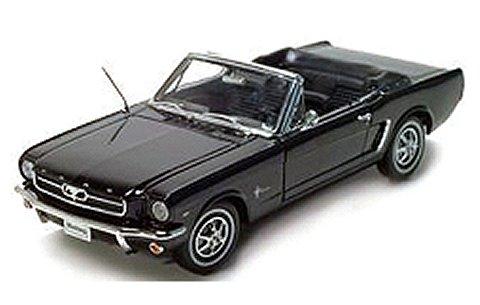 1964 1/2 フォード マスタング コンバーチブル ブラック (1/18 ウエリーWE12519CBK)