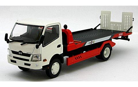 日野 KYOKUTO FLAPTOP ZERO II ホワイト+日産 R390 GT1 (1/43 京商KS67391WN)