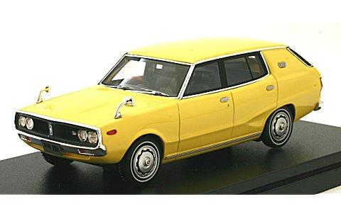 ニッサン スカイライン 1800 ワゴン スポーティ GL 1972 イエロー (1/43 ハイストーリーHS151YE)