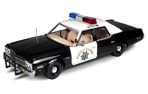 1975 ダッジ モナコ パトロールカー (CHiPs/邦題:白バイ野郎ジョン&パンチ) (1/18 アメリカンマッスルAWSS112)