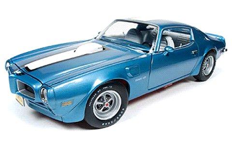 1972 ポンティアック ファイヤーバード トランザム アドリアティックブルー (1/18 アメリカンマッスルAMM1076)