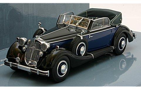 ホルヒ 853A カブリオレ 1938 ブラック/ブルー (1/43 ミニチャンプス436012036)