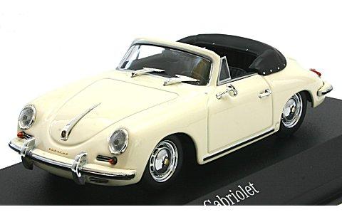 ポルシェ 356 B カブリオレ 1960 アイボリー (1/43 ミニチャンプス400064332)