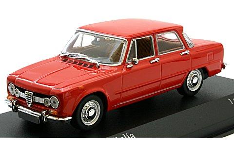 アルファロメオ ジュリア 1600 1970 レッド (1/43 ミニチャンプス400120907)