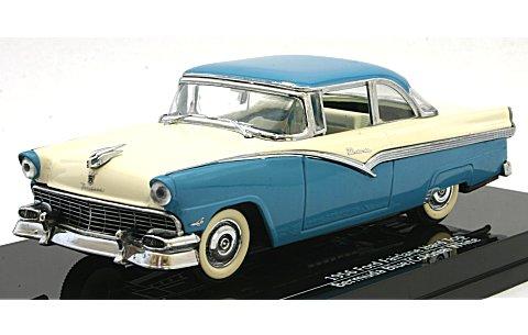 フォード フェアレーン ハードトップ 1956 バミューダブルー/コロニアルホワイト (1/43 ビテス36274)