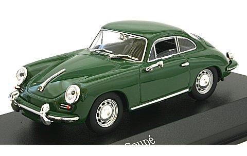 ポルシェ 356 C クーペ 1963 ダークグリーン (1/43 ミニチャンプス430062329)
