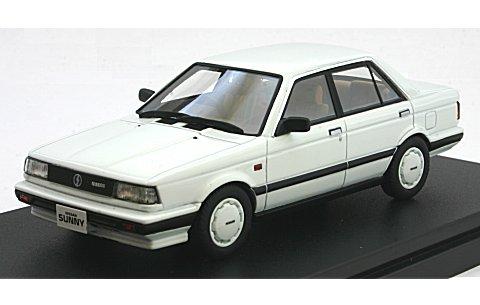 ニッサン サニー 1500 スーパーサルーン 1987 クリスタルホワイト (1/43 ハイストーリーHS146WH)