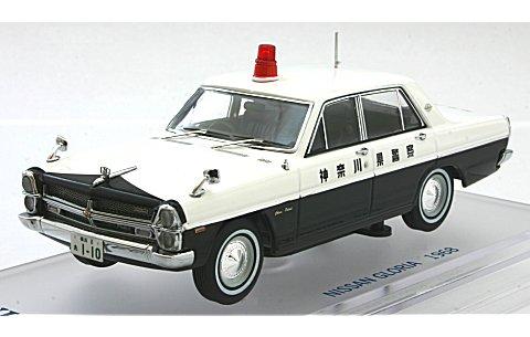 ニッサン グロリア (PA30) パトロールカー 1968 神奈川県警 (1/43 エニフENIF0044)