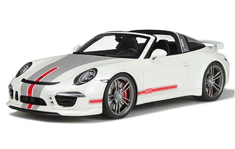 ポルシェ 911 タルガ テックアート ホワイト/レッドライン (1/18 GTスピリット GTS108)