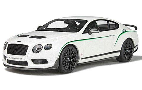 ベントレー コンチネンタル GT3-R グレイシャーホワイト (1/18 GTスピリット GTS121)