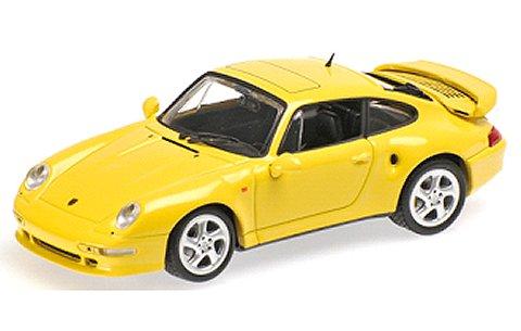 ポルシェ 911 ターボ S (993) 「JUBILAUMSMODELL」 ライトイエロー (1/43 ミニチャンプス430069270)
