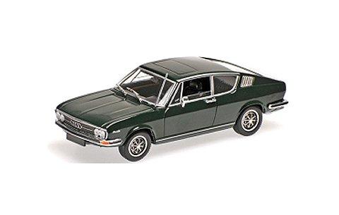 アウディ 100 クーペ S 1969 ダークグリーン (1/43 ミニチャンプス430019129)