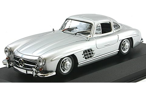 メルセデスベンツ 300 SL (W198 I) 1955 シルバー (1/43 ミニチャンプス940039000)