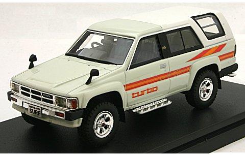 トヨタ ハイラックス 4WD サーフ SSR 1985 ホワイト (1/43 ハイストーリーHS161WH)