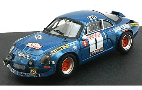 アルピーヌ ルノー A110 1972 ツール・ド・コルス 4位 (1/43 トロフュー835)