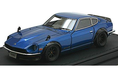 ニッサン フェアレディ Z (S30) ブルー (ワタナベホイール) (1/43 イグニションモデルIG0756)