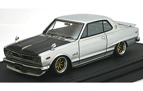 ニッサン スカイライン 2000 GT-X (KGC10) シルバー (1/43 イグニションモデルIG0132)