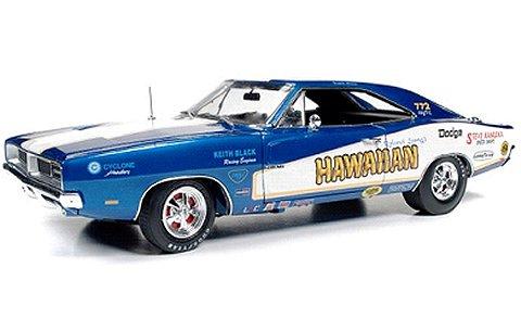 1969 ダッジ チャージャー ハワイアンファニーカー ブルーM (1/18 アメリカンマッスルAW231)