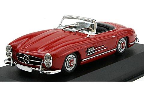 メルセデスベンツ 300 SL ロードスター (W198 II) 1955 ダークレッド (1/43 ミニチャンプス940039031)
