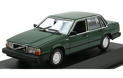 ボルボ 740 GL 1986 ダークグリーン (1/43 ミニチャンプス940171700)