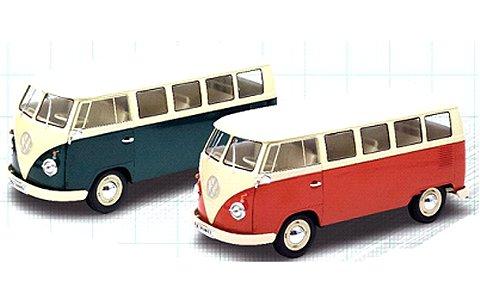 フォルクスワーゲン T1バス 1963 WINDOW VAN レッド (1/18 ウエリーWE18054R)