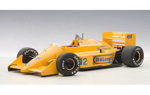 ロータス 99T ホンダ F1 日本GP 1987 No12 アイルトン・セナ (ロータスロゴ無し) (1/18 オートアート88728)