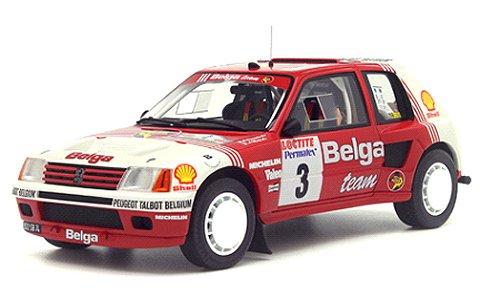 プジョー 205 T16 グループB Belga Rallye Ypres 1985 レッド/ホワイト (1/18 オットーモビルOTM647)
