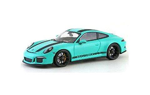 ポルシェ 911 R (991) 2016 ミントグリーン/ブラックストライプ (1/43 ミニチャンプス413066228)