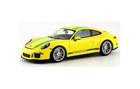 ポルシェ 911 R (991) 2016 イエロー/グリーンストライプ (1/43 ミニチャンプス413066261)