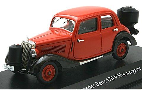 メルセデスベンツ 170V リムジン 木炭車 マットダークレッド (1/43 シュコー450246600)