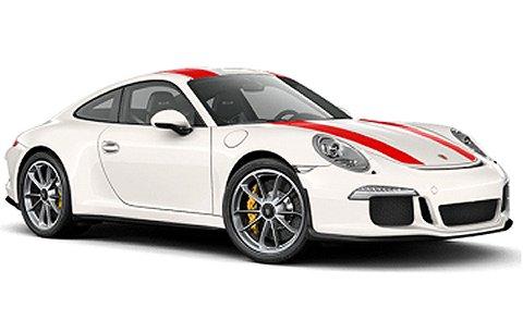 ポルシェ 911R 2016 ホワイト/レッドストライプ (1/43 ミニチャンプス410066220)