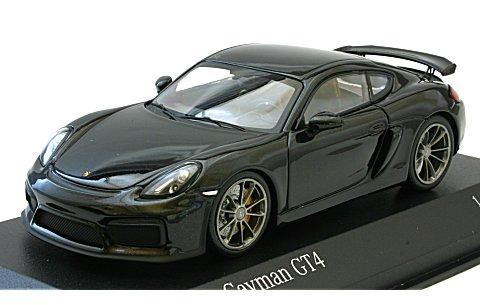 ポルシェ ケイマン GT4 2016 ブラックM (1/43 ミニチャンプス410066121)