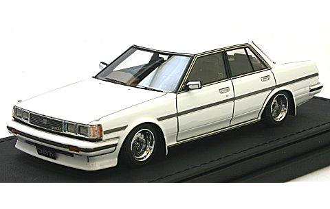 トヨタ クレスタ Super Lucent (GX71) ホワイト SS-Wheel (1/43 イグニションモデルIG0680)