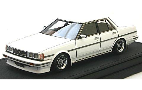 トヨタ クレスタ Super Lucent (GX71) ホワイト Hayashi-Wheel (1/43 イグニションモデルIG0681)