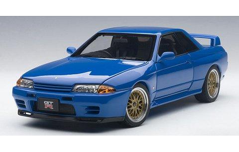 ニッサン スカイライン GT-R (R32) V-Spec II チューンド・バージョン ブルー (1/18 オートアート77415)