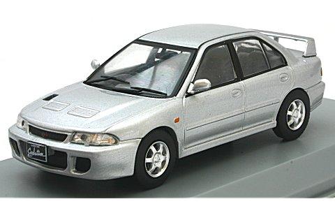 ミツビシ ランサー EVO 1 右ハンドル 1992 シルバー (1/43 ホワイトボックスWB243)