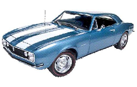 1967 シェビー カマロ Z28 50thアニバーサリー ナンタケットブルー (1/18 アメリカンマッスルAMM1101)