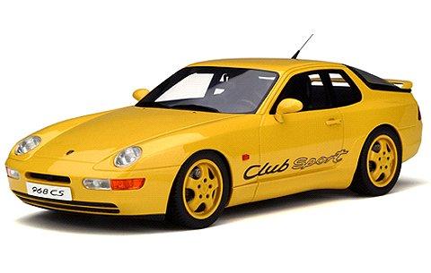 ポルシェ 968 クラブスポーツ イエロー (1/18 GTスピリット GTS129)